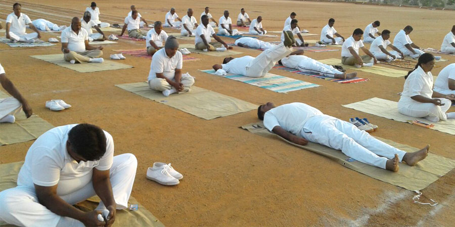 Meditation session organized for Police Training Center, Chikkmangalur, Karnataka on February' 2017