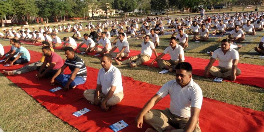 CRPF पिंजौर, पंचकुला, हरियाणा के लिए जनवरी'2016 में सिद्धयोग ध्यान शिविर का आयोजन किया गया।