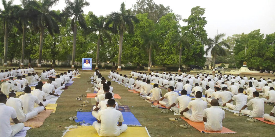 Meditation session organized for Police Academy Camp, Gorakhpur, UP on April' 2016