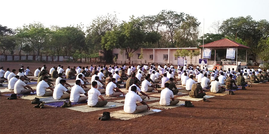 Meditation session organized for Police Training Center Raipur, Chhattisgarh on March' 2017