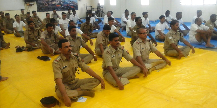 Meditation session organized for Navy Coast Guard, Andaman and Nicobar Islands on Sep' 2015