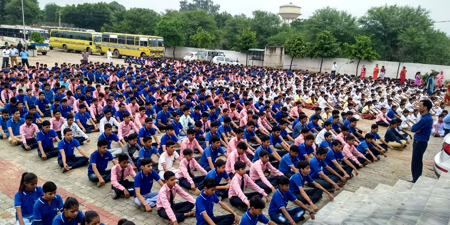 AVSK Activities organized in Bansal Public School, Jaipur in September'2018
