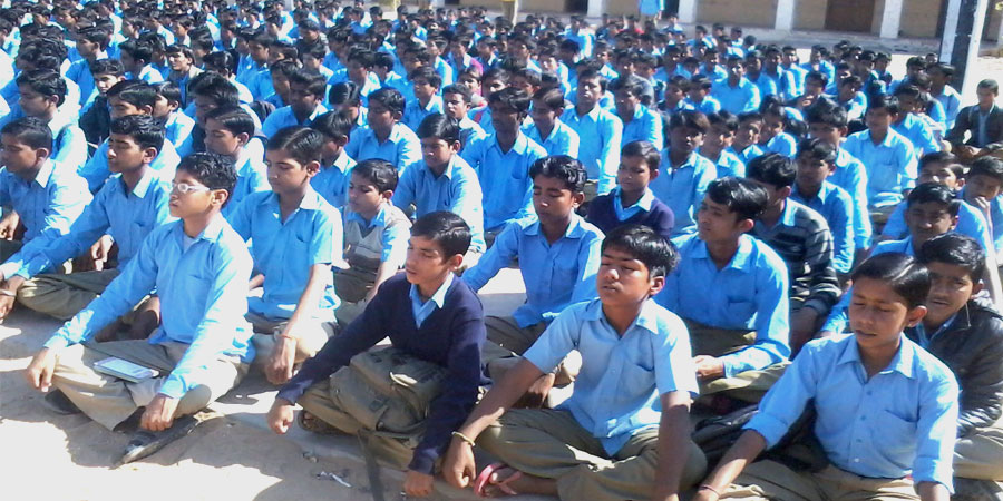 AVSK Activities organized in Government Senior Secondary School, Jaisalmer on Febraury'2014