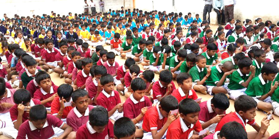 Meditation session organized for Siddalingeshwara High School Magadi Rd, Bengaluru in June'2014