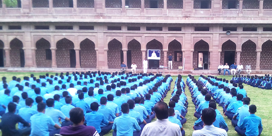 Meditation session organized for Chopasani Senior Secondary School, Jodhpur in June'2016