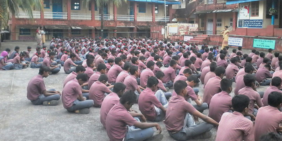 Meditation session organized for Govt. Sr. Secondary School, Andaman and Nicobar Islands